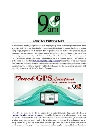 Mobile GPS Tracking Software