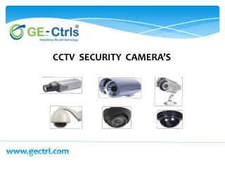 CCTV Security Camera's