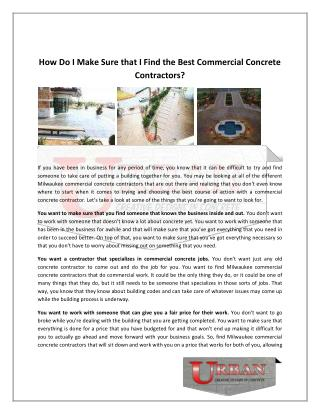 Milwaukee commercial concrete contractors