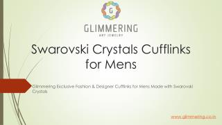 Swarovski Crystals Designer Cufflinks for mens