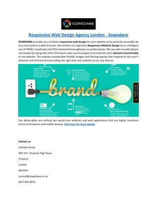 Responsive Web Design Agency London - Sowedane