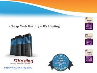 Cheap Web Hosting - RS Hosting