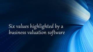 Six values highlighted by a business valuation software.pptx
