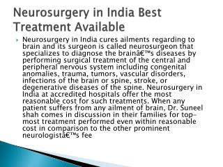 Neurosurgery in India Best Treatment Available