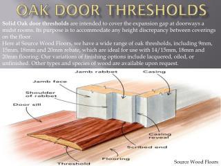 Buy online Solid oak door thresholds & products