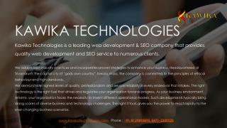 Kawika Technologies: Top Website Design & Development | SEO Company, Trivandrum, India.