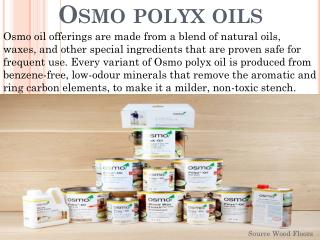 Osmo Polyx Oils Products