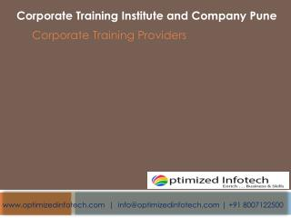Corporate Training Institute and Company | Pune | Mumbai