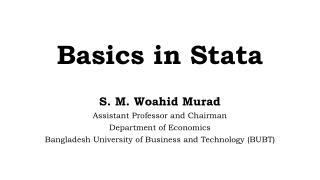 Basics in Stata 12