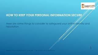 How to Keep Your Personal Information Secure