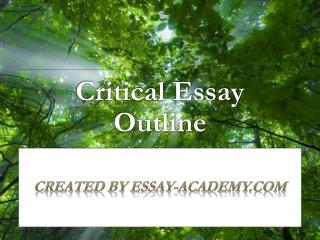 Critical Essay Outline
