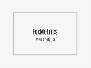 FoxMetrics Web Analytics