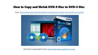 How to copy and shrink dvd 9 disc to dvd-5 disc