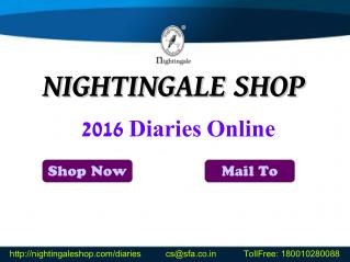 2016 Corporate Diaries | Customized Diary Online | Planners Manufacturer India - Nightingale