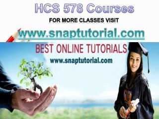 HCS 578 Apprentice tutors/snaptutorial