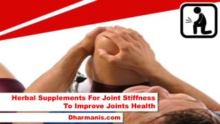 Herbal Supplements For Joint Stiffness To Improve Joints Health