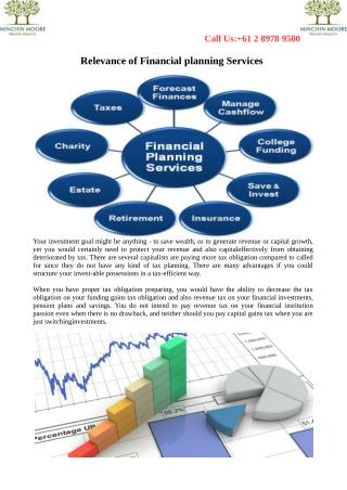 Relevance of Financial planning Services