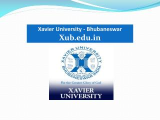 Best rural management colleges in India - Xavier University