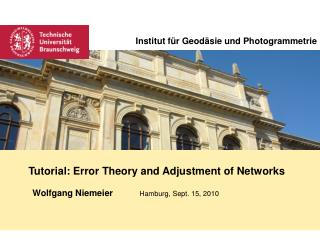 Tutorial: Error Theory and Adjustment of Networks