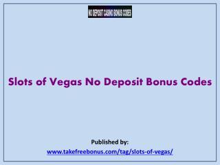 Slots of vegas bonus codes may 2018