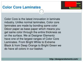 Color Core Laminates