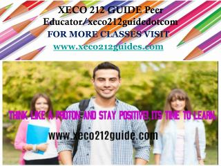 XECO 212 GUIDE Peer Educator/xeco212guidedotcom