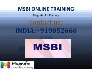MSBI Online Training in UK