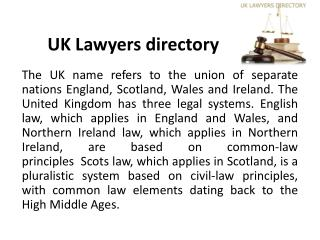 UK Lawyers directory