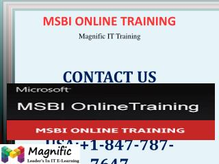 MSBI Online Training in Canada