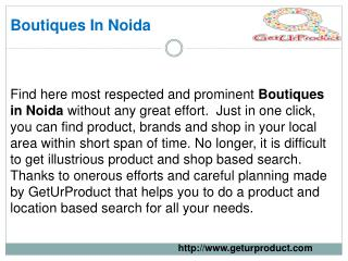 Boutiques in Noida