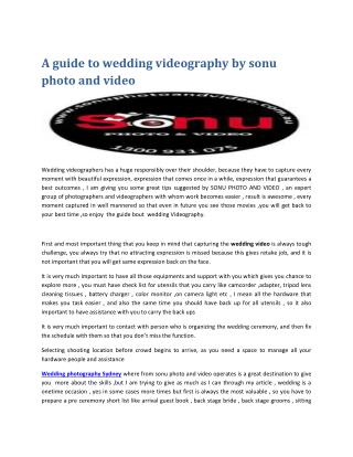 Wedding Videography Sydney