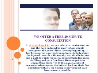 WE OFFER A FREE 20 MINUTE CONSULTATION