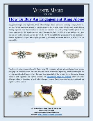 How To Buy An Engagement Ring Alone
