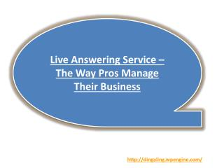 Live Answering Service – The Way Pros Manage Their Business