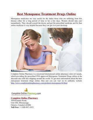 Best Menopause Treatment Drugs Online