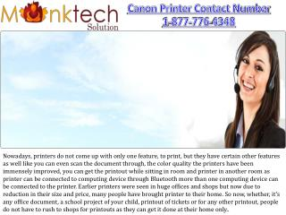 Canon Contact Number 1-877-776-4348 toll free