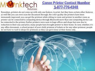 Canon Contact Number toll free 1-877-776-4348