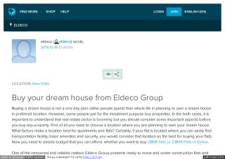 Buy your dream house from Eldeco Group