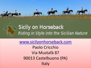 Enjoy Horse riding holiday in Sicily