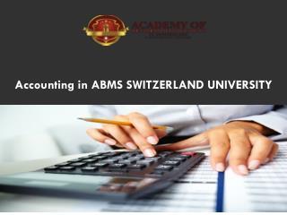 Accounting in Abms Switzerland University