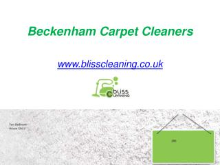 Carpet Cleaners in Beckenham - www.blisscleaning.co.uk