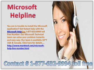Microsoft helpline ~!!~ 1-877-632-9994 toll free