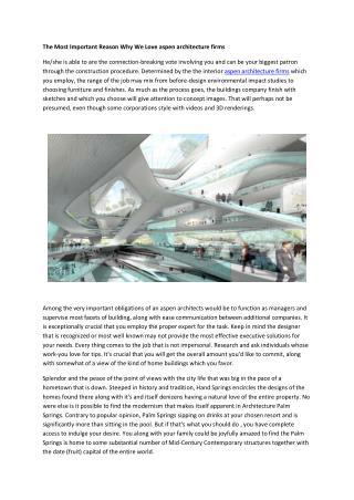 aspen architecture firms