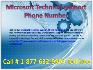 Microsoft technical support phone number ~$@$~ 1-877-632-9994 toll free