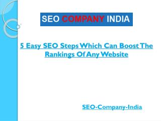 5 Easy SEO Steps Which Can Boost The Rankings Of Any Website