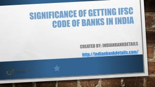 Significance of Getting IFSC Code