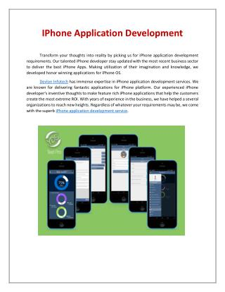 ios game development company | iPhone game development services - Devlon Infotech