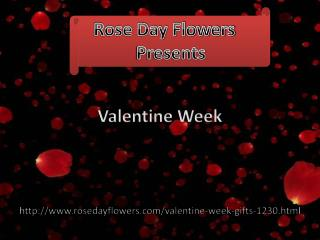 Collection of valentine week gifts available on rosedayflowers.com