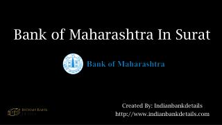 MICR code for Bank of Maharashtra in surat
