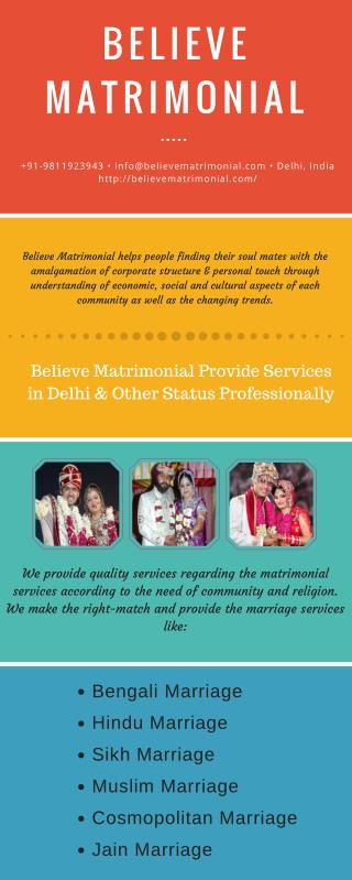 Believe Matrimonial Services In Delhi